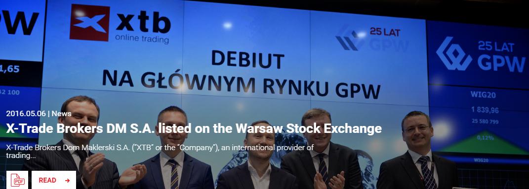 XTB-Börsengang-Eröffnungsglocke-Warschau