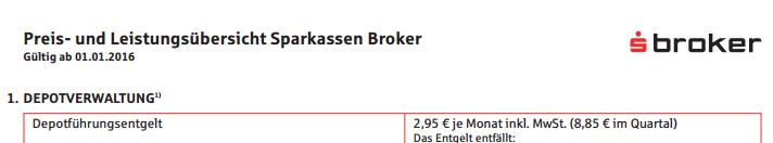 s-broker-Preisverzeichnis