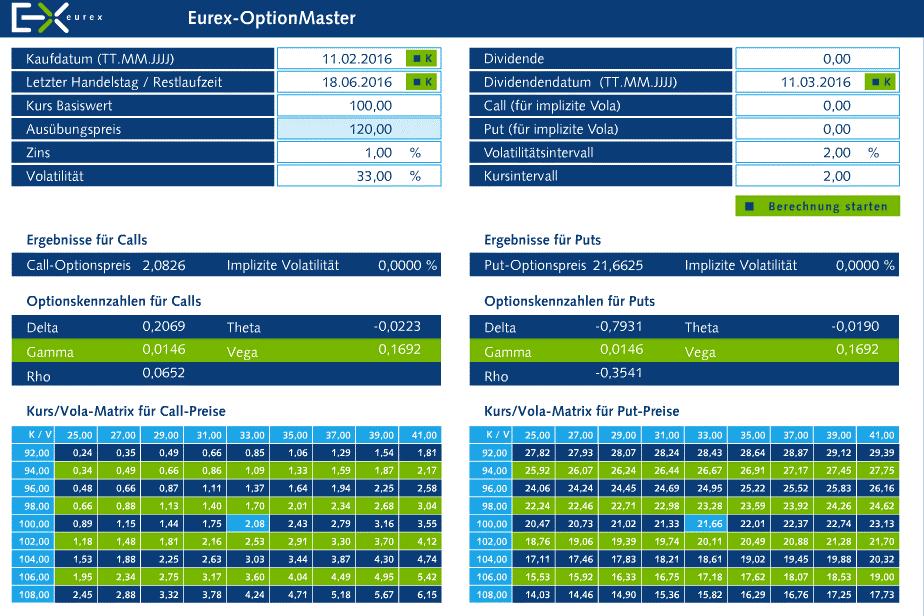 EUREX-Option-Master