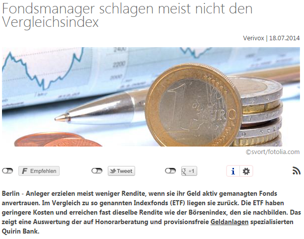 ETF-Sparplan im Test Fonds-Benchmark-Verivox