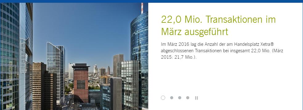 Aktien kaufen für Anfänger Xetra-Deutsche-Börse