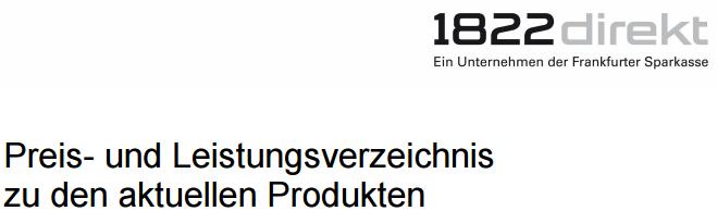 1822direkt-Preisverzeichnis