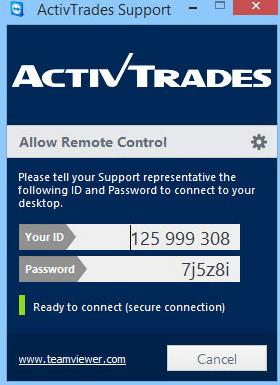 ActivTrades-TeamViewer-Kundenbetreuung