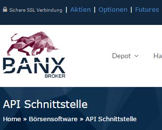 Banx-API-Optionen