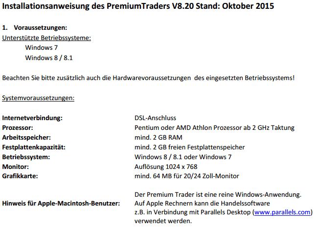 Consorsbank-Premium Trader-System