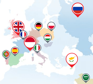 FXPro is represented in many countries