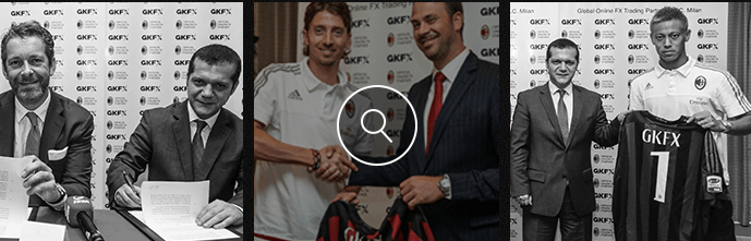The football club AC Milan is sponsored by GKFX.