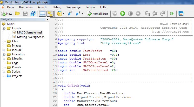 Meta-Editor-MACD-Sample