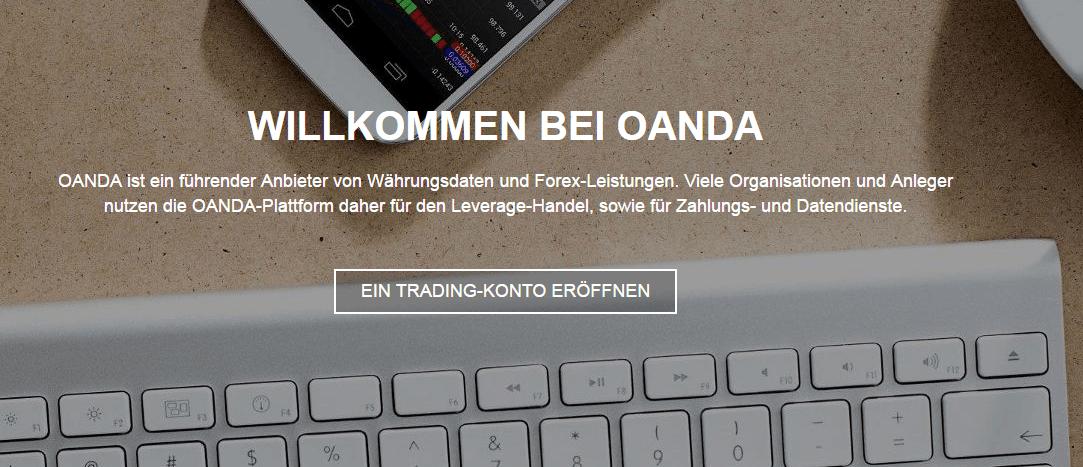 Oanda-willkommen-Tastatur