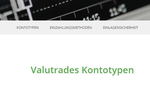 Valutrades-Kontotypen-Ansicht