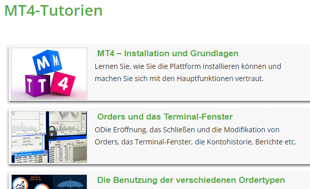 Valutrades-MT4-Tutorien