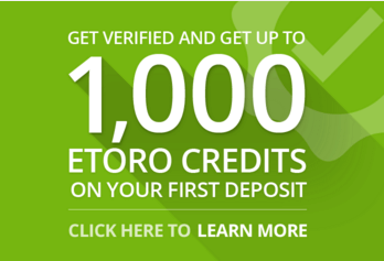 New clients get up to 1,000 eToro Credits on their first deposit.