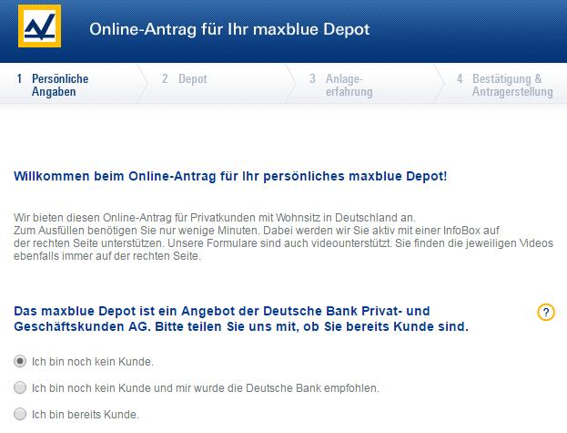 maxblue deutsche bank