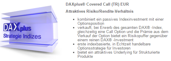 Screenshot Deutsche Börse: Der DaxPlus Covered Call