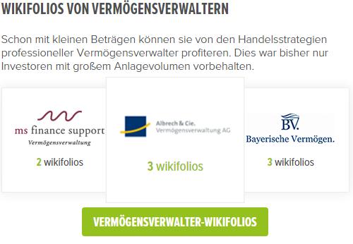 Screenshot: Social Trading kann als Mittel zur Diversifikation dienen