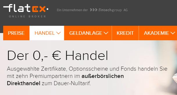 Flatex 0 Euro Handel