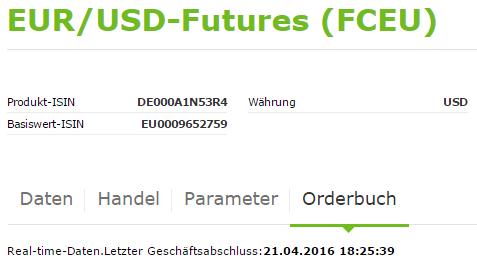 Fx-Future-Eurex