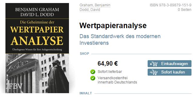 Graham-Dodd-Wertpapieranalyse-Buch
