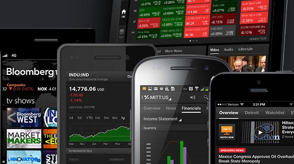 Bloomberg-App-Übersicht