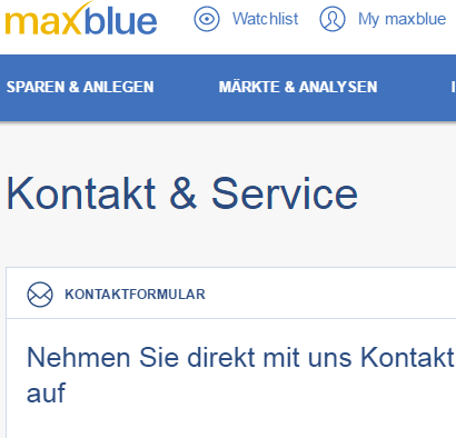 maxblue deutsche bank