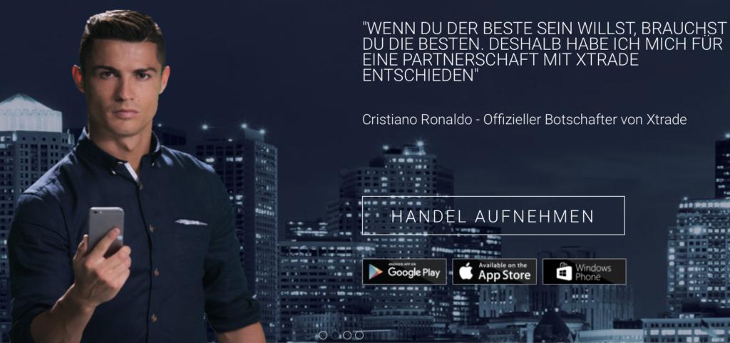 Xtrade konnte Christiano Ronaldo für sich gewinnen