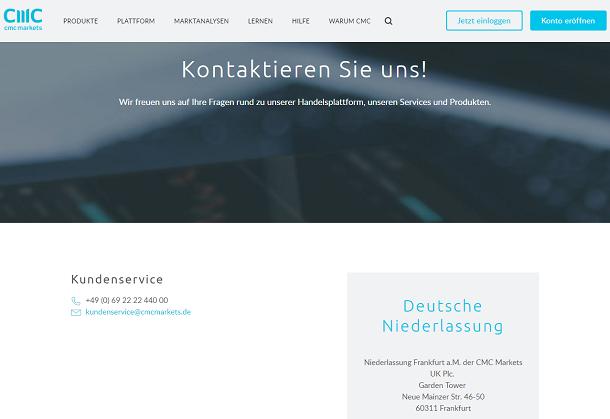 CMC Markets Kundenservice