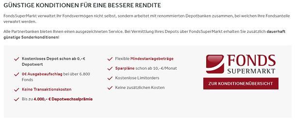 FondsSuperMarkt Kondition