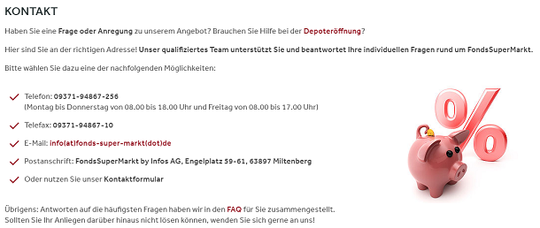 FondsSuperMarkt Kontakt