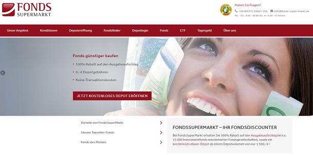FondsSuperMarkt Homepage