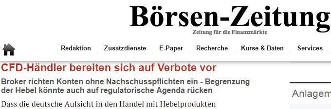 Börsen-Zeitung-Headline-CFD-Händler