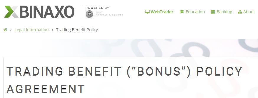Binaxo-Bonus-Bedingungen