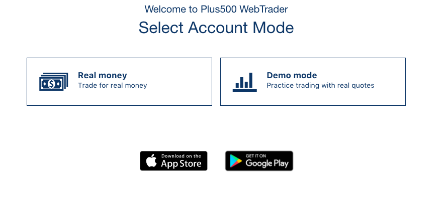 Traders can either trade with real money or use the demo account.