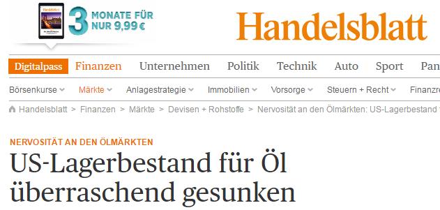 Handelsblatt-Lagerbestände-Headline