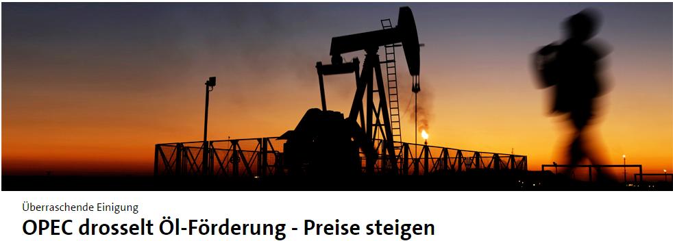 OPEC-Drosselung-Tagesschau