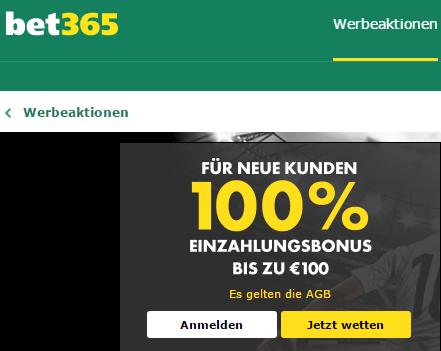 Bet365 Boni-100%