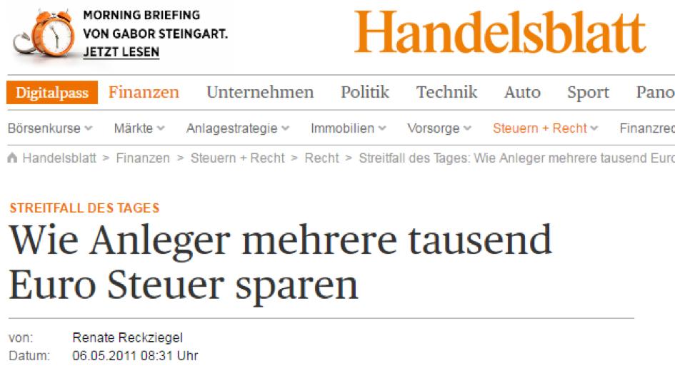 HB Abgeltungsteuer sparen Headline