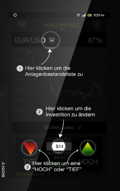 24Option App Hauptansicht