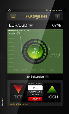 EUR USD Option 24Option App
