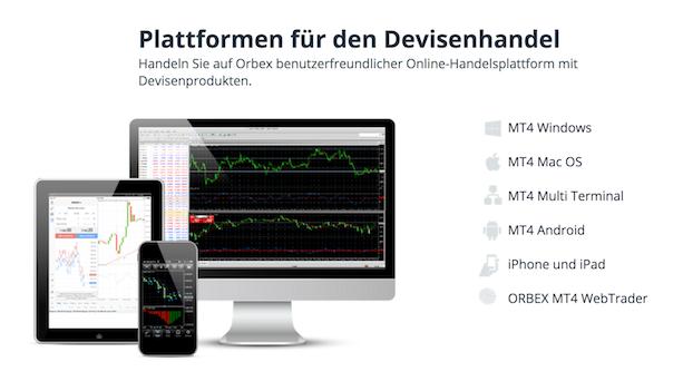 Orbex Handelsplattform MT4