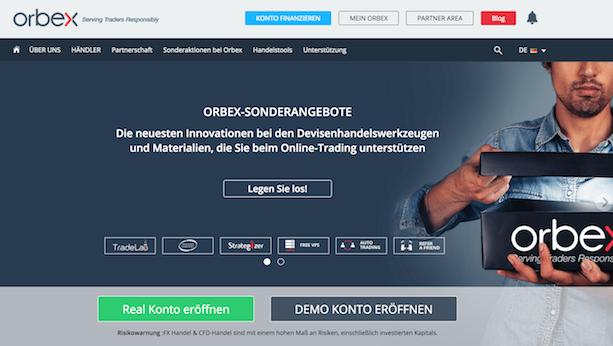 Orbex Webseite