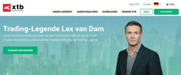 xtb Webauftritt