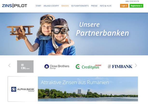 ZINSPILOT Partnerbanken