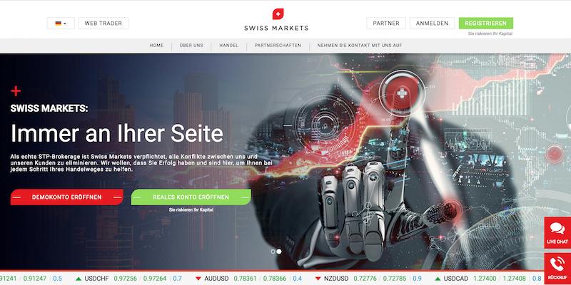 Swiss Markets Webseite