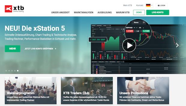 XTB bietet seinen Kunden solide Software und faire Konditionen