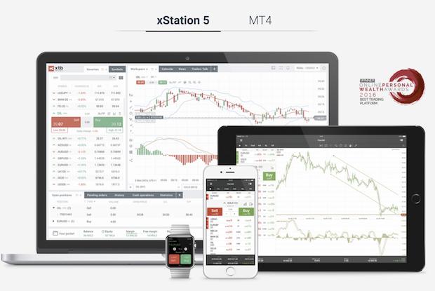 Zur Plattform xStation 5 steht zusätzlich der MetaTrader bereit