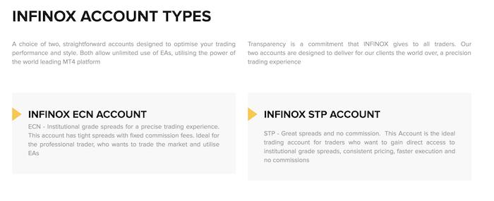 Infinox Kontomodelle