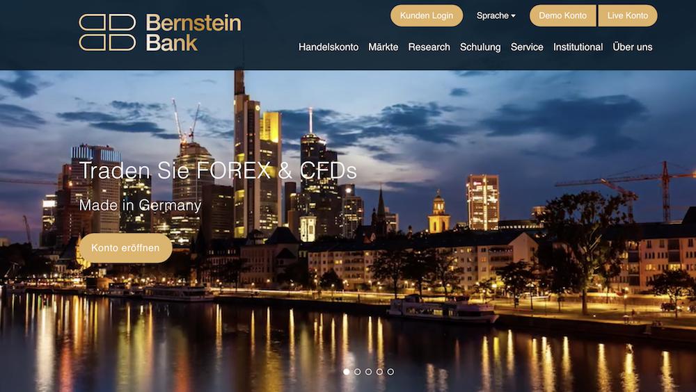 Bernstein Bank Webseite