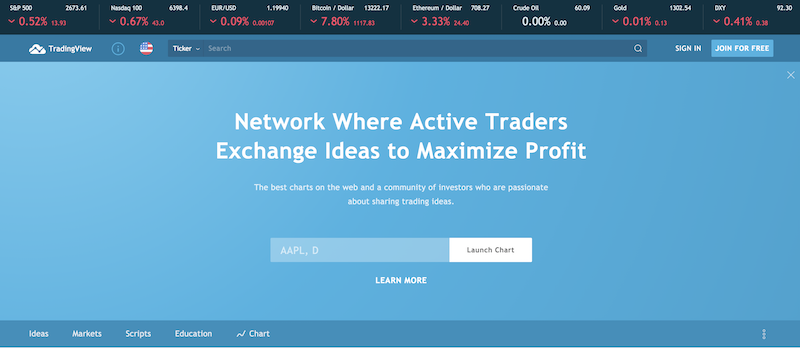 TradingView website