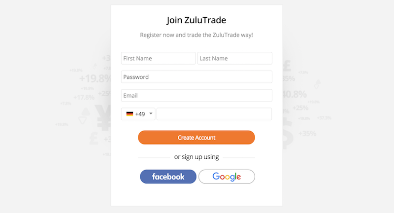 ZuluTrade Account