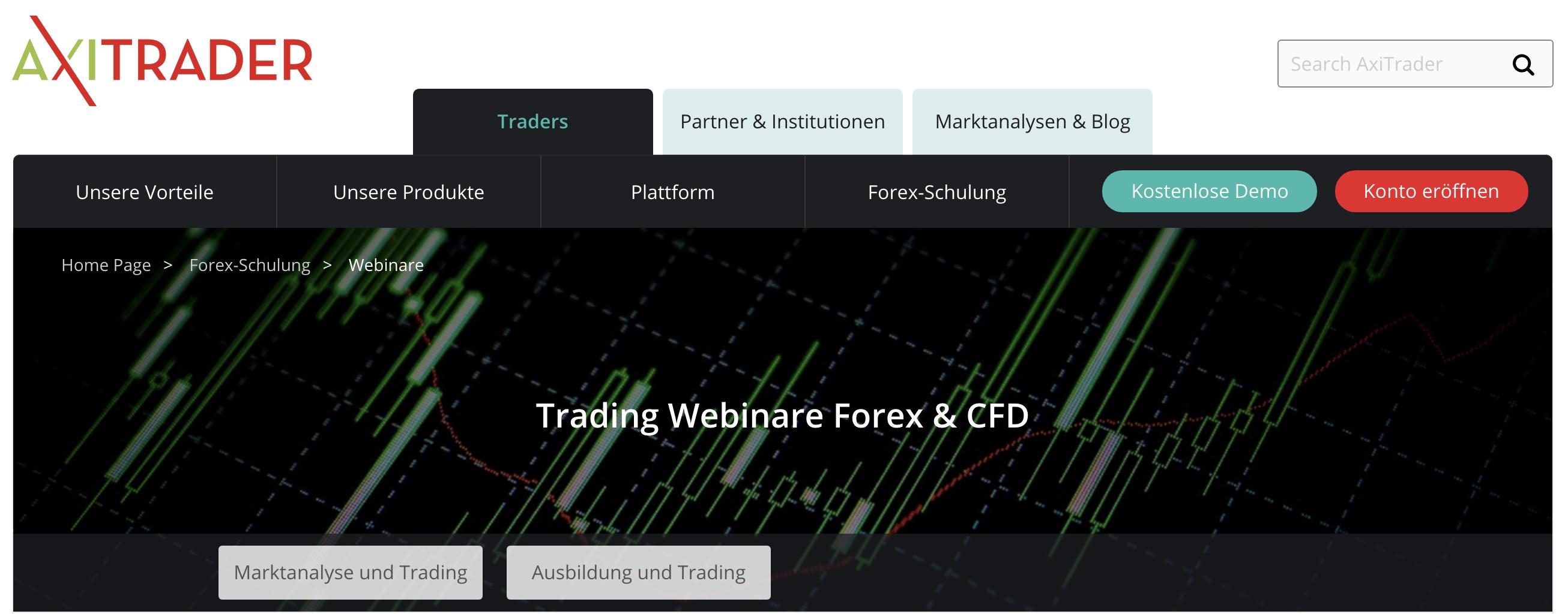 Zahlreiche Webiare zum Thema CFD und Forex